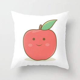 I'm a happy apple :) Throw Pillow