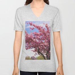 Gracefully Blooming Tree Unisex V-Neck