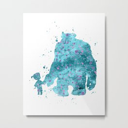 BOO AND SULLY MONSTERS INC Metal Print