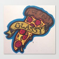 classy Canvas Prints featuring CLASSY by ASHLEYHENNESSY