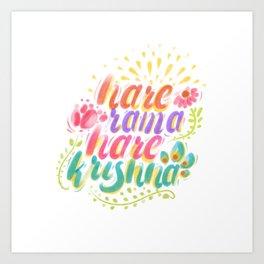 Hare Rama Hare Krishna Art Print