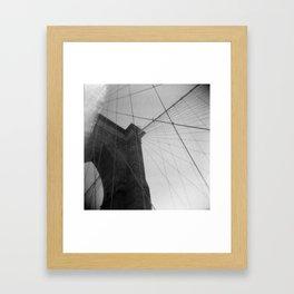 Brooklyn Bridge 04, Holga Framed Art Print