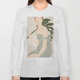Holding the Monstera Leaf Long Sleeve T-shirt