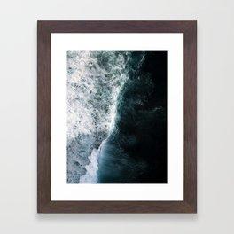 Oceanscape - White and Blue Framed Art Print