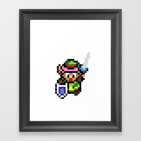 Legend of Zelda - Link Framed Art Print