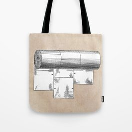 patent art Wheeler Wrapping of toilet paper 1894 Tote Bag