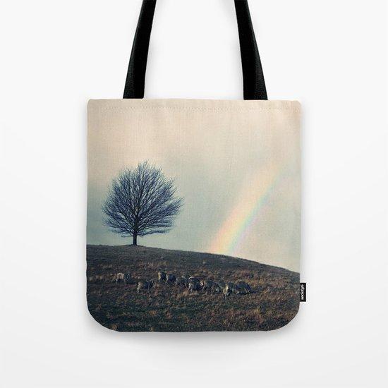 Chasing rainbows and counting sheep. Same thing really. Tote Bag