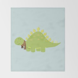 ScarfTegosaurus Throw Blanket