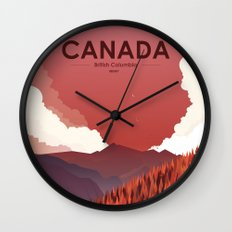 Alone In Nature - RedSky Wall Clock