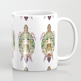 green mosaic turtle Coffee Mug