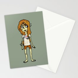noodle girl Stationery Cards