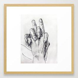 Hand Sketch 3 Framed Art Print