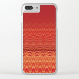 Bright Orange Ombre Chevron Wave Fade Out Clear iPhone Case