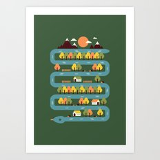 Snake River Art Print