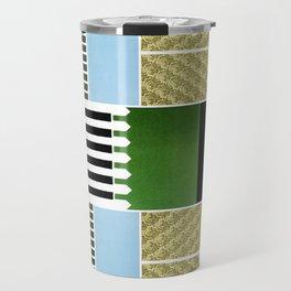 GREEN, BLUE, YELLOW AND STRIPES Travel Mug