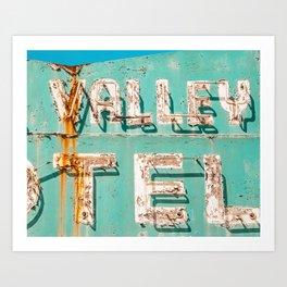Valley Tel Art Print