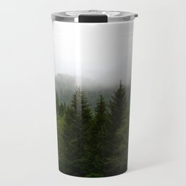 Foggy morning at the Lake Travel Mug