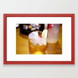 Cherry Glass. Framed Art Print