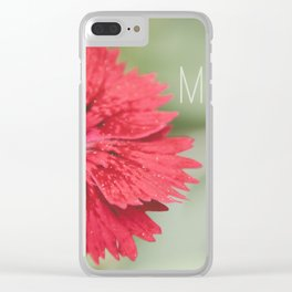 Mom I love you forever Clear iPhone Case