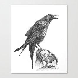 Raven Part 1.  Canvas Print