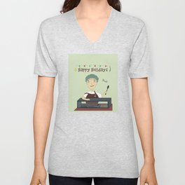 Happy holiday from cafeteria worker Unisex V-Neck