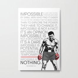 Ali 'The Champion' Boxer Metal Print