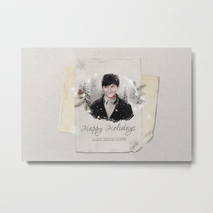OUAT HAPPY HOLIDAYS // HENRY MILLS Metal Print
