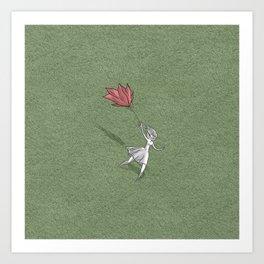 Rose umbrella Art Print