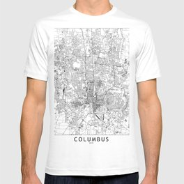 Columbus White Map T-shirt