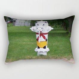 Funny Fire Hydrant Rectangular Pillow