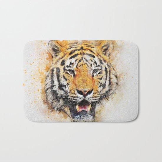 Tiger Abstract Bath Mat
