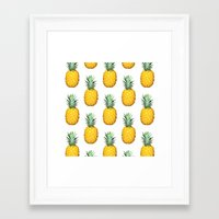 pinapple Framed Art Prints featuring Big Pineapples by CumulusFactory