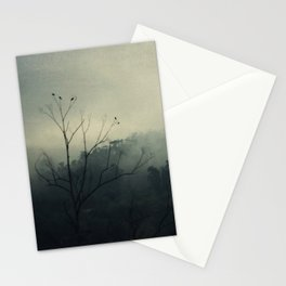 moody fog mountain Stationery Cards