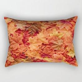 Artificial Maple Leaves Rectangular Pillow