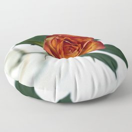 The rose in the beer glass Floor Pillow