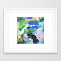 pool Framed Art Prints featuring Pool by Jenny Vorwaller