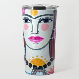 Beautiful Frida Travel Mug