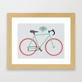 I love cycling Framed Art Print
