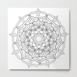 Mandala black 2 Metal Print