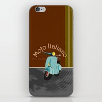 moto iPhone & iPod Skins featuring Moto Italiano by DavidERobinson