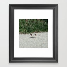 Mother Nature Smirk Framed Art Print