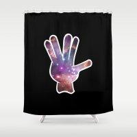 nebula Shower Curtains featuring Nebula by mailboxdisco