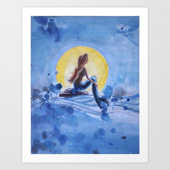 Mia Mermaid Art Print