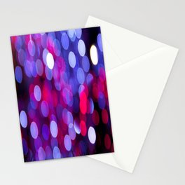 Pittsburgh Market Square Christmas Bokeh Stationery Cards
