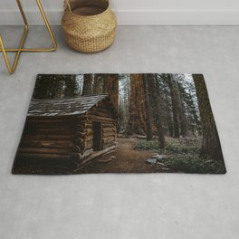 Log Cabin in the Giant Forest Rug