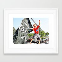 pirate ship Framed Art Prints featuring Pirate Ship by Stephanie Todt