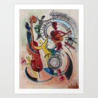 concert Art Prints featuring concert by sladja