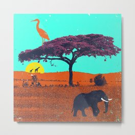 AFRICA VIBES Metal Print