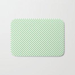 Summer Green Polka Dots Bath Mat