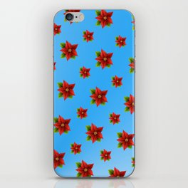 Red Flowers Pattern 2 iPhone Skin